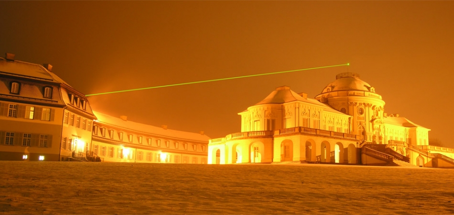 Laser Device No. 1, disctance 95 m. Akademie Schloss Solitude, Winter 2005/2006